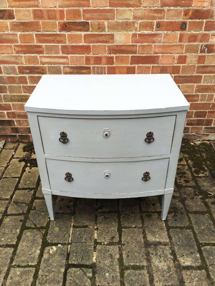 Regency Painted Mahogany French 2 Drawer Chest3