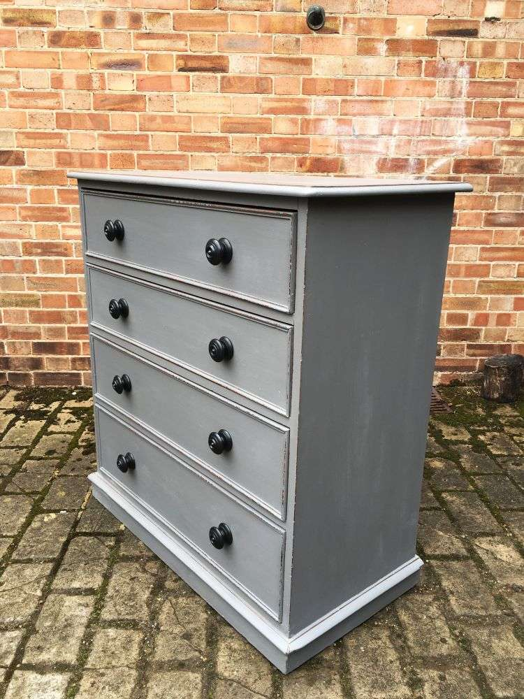 Mid Victorian Painted Mahogany Chest Of Drawers1