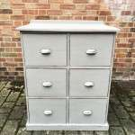 Edwardian Painted Pine 6 Drawer Kitchen Base -SOLD Ref:1197