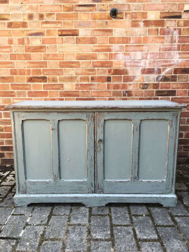 Mid Victorian Painted Pine School Cupboard SOLD- Ref:1194
