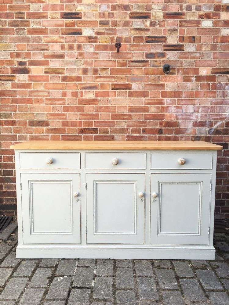 1960's Painted Solid Pine Dresser Base SOLD- Ref:1195