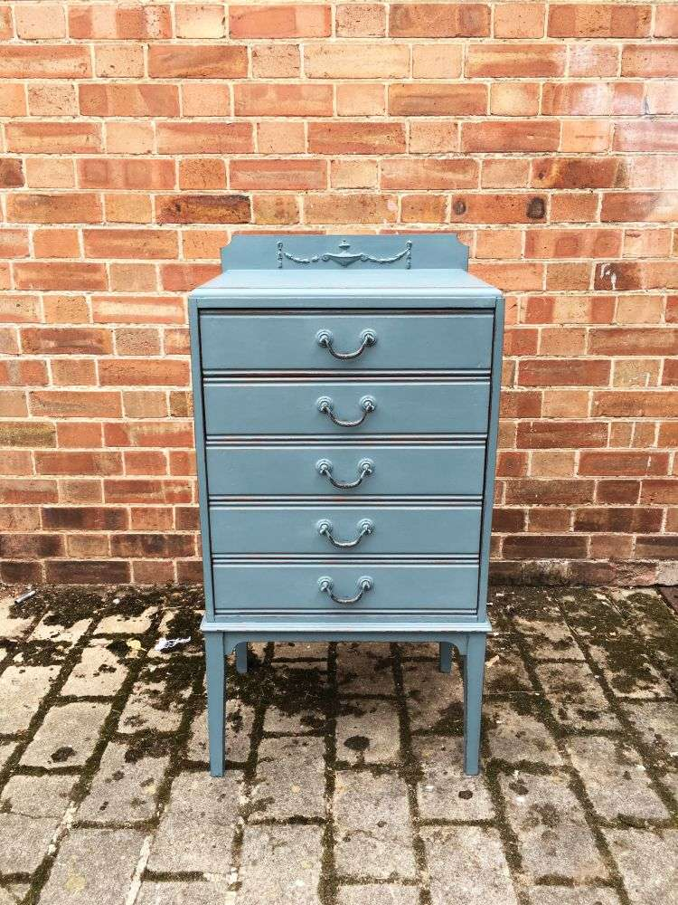 Edwardian Painted 5 Drawer Chest SOLD- Ref:1201