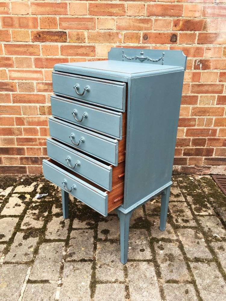 Edwardian Painted 5 Drawer Chest