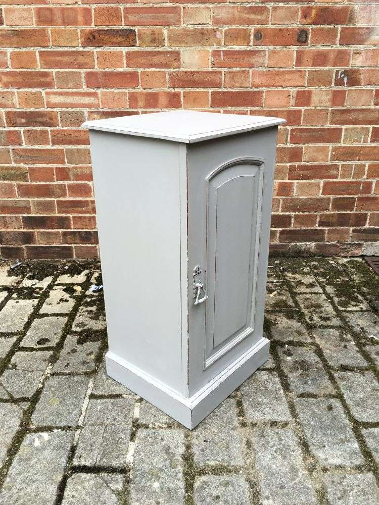 Late Victorian Painted Mahogany Pot Cupboard2