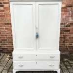Regency Painted Pine 2 Part Cupboard Chest Press SOLD- Ref:1199