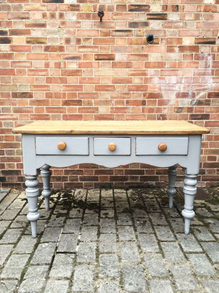 Mid Victorian Painted Pine Serving Table2