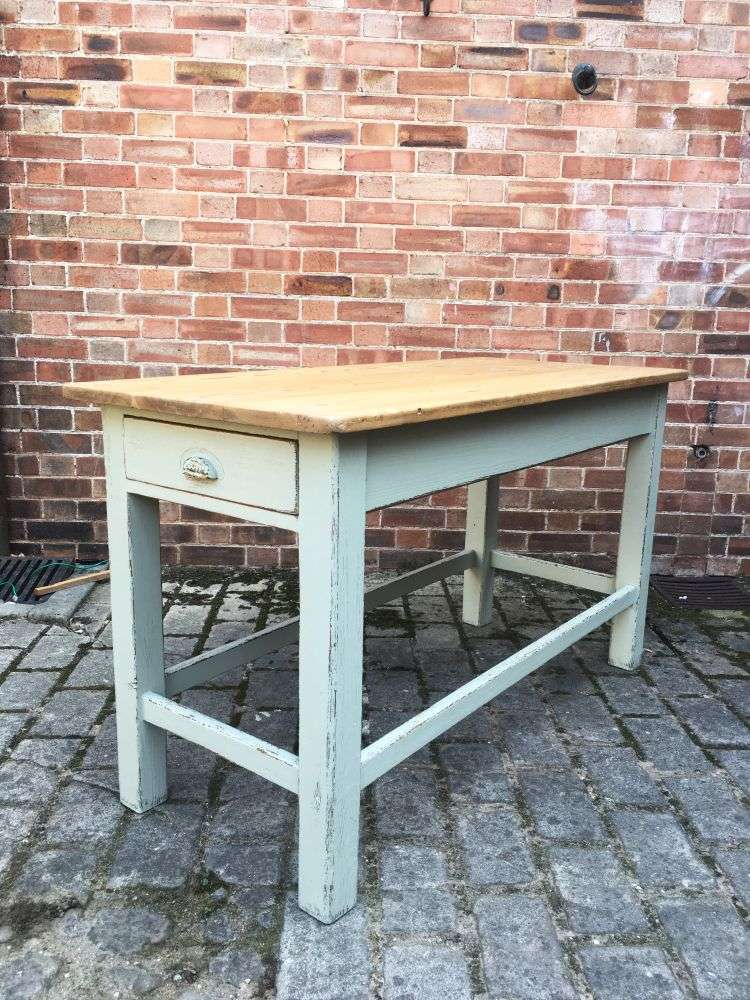 Late Victorian Painted Pine Farmhouse Kitchen Table SOLD- Ref:1202