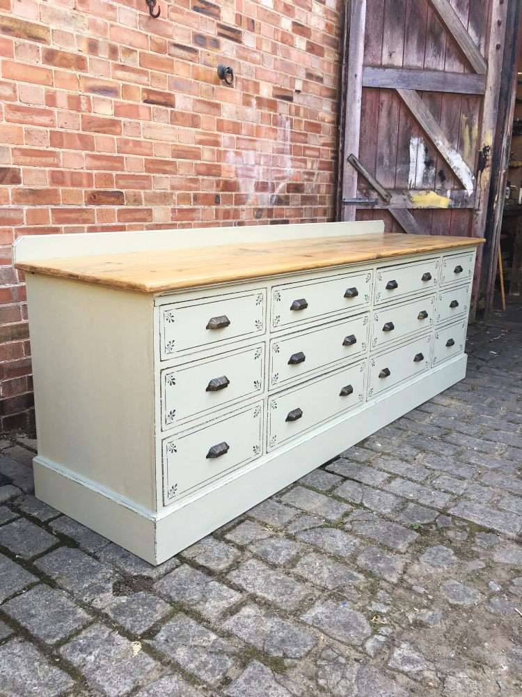 Late Victorian Painted Mahogany Drawer Base5