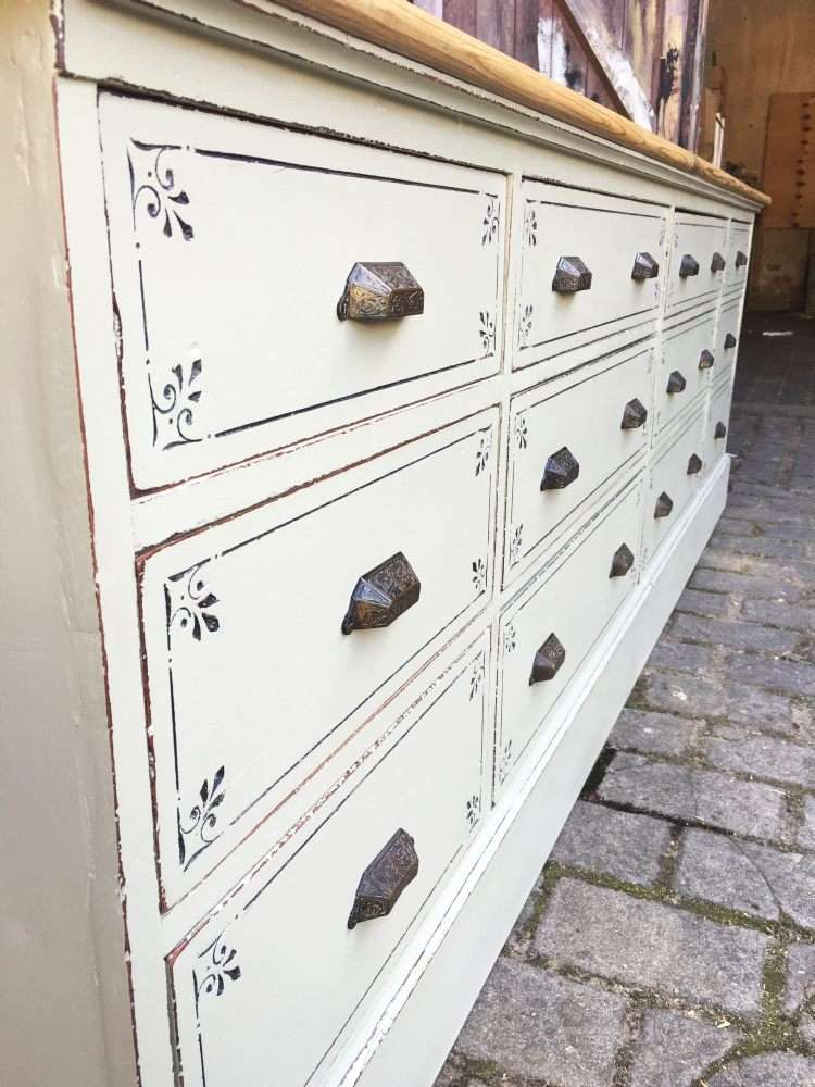 Late Victorian Painted Mahogany Drawer Base2