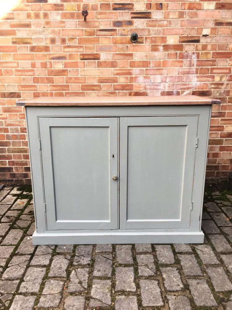 Mid Victorian Painted Pine Utility Cupboard  SOLD- Ref:1209