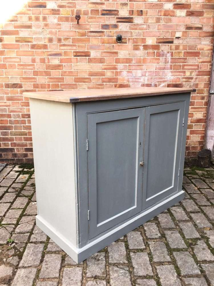 Mid Victorian Painted Pine Utility Cupboard3