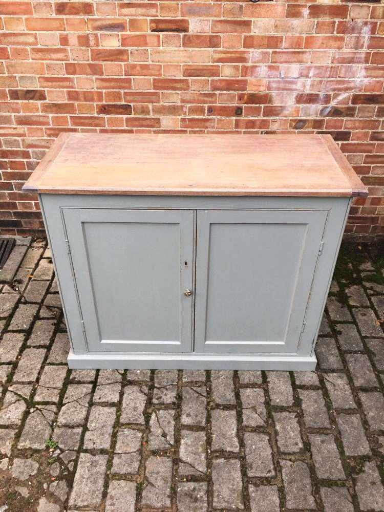 Mid Victorian Painted Pine Utility Cupboard1