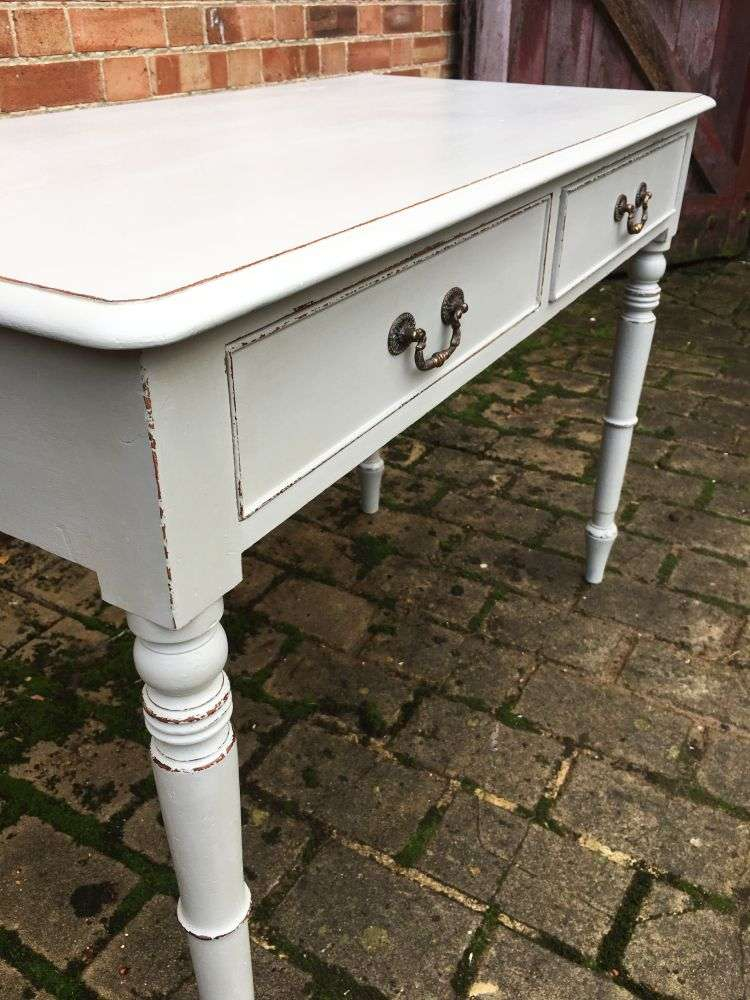 Early Victorian Painted Mahogany Writing Table3