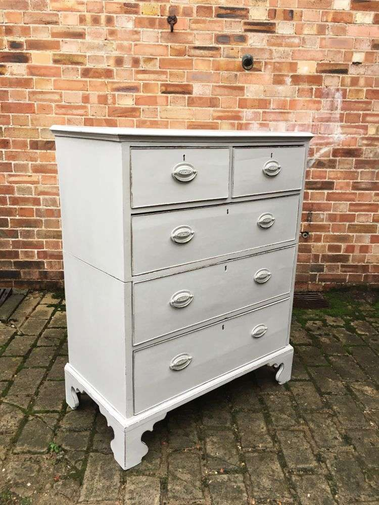Georgian Painted Mahogany Country Chest1