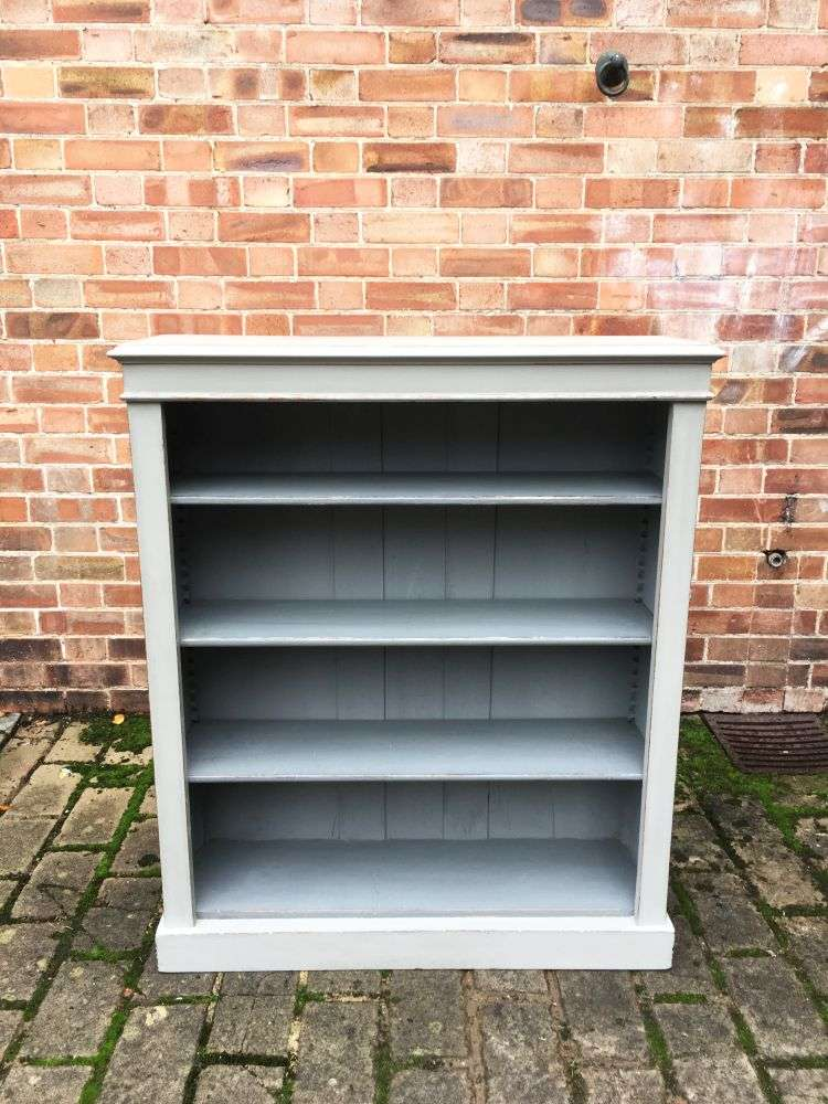 Late Victorian Painted Oak Open Bookcase -SOLD Ref:1215