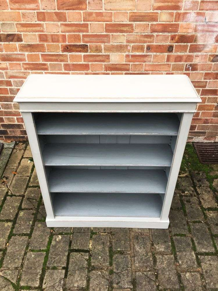 Late Victorian Painted Oak Open Bookcase