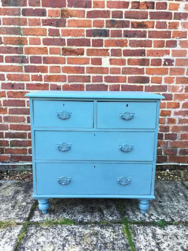 Late Victorian Painted Pine Chest Of Drawers SOLD- Ref:1216