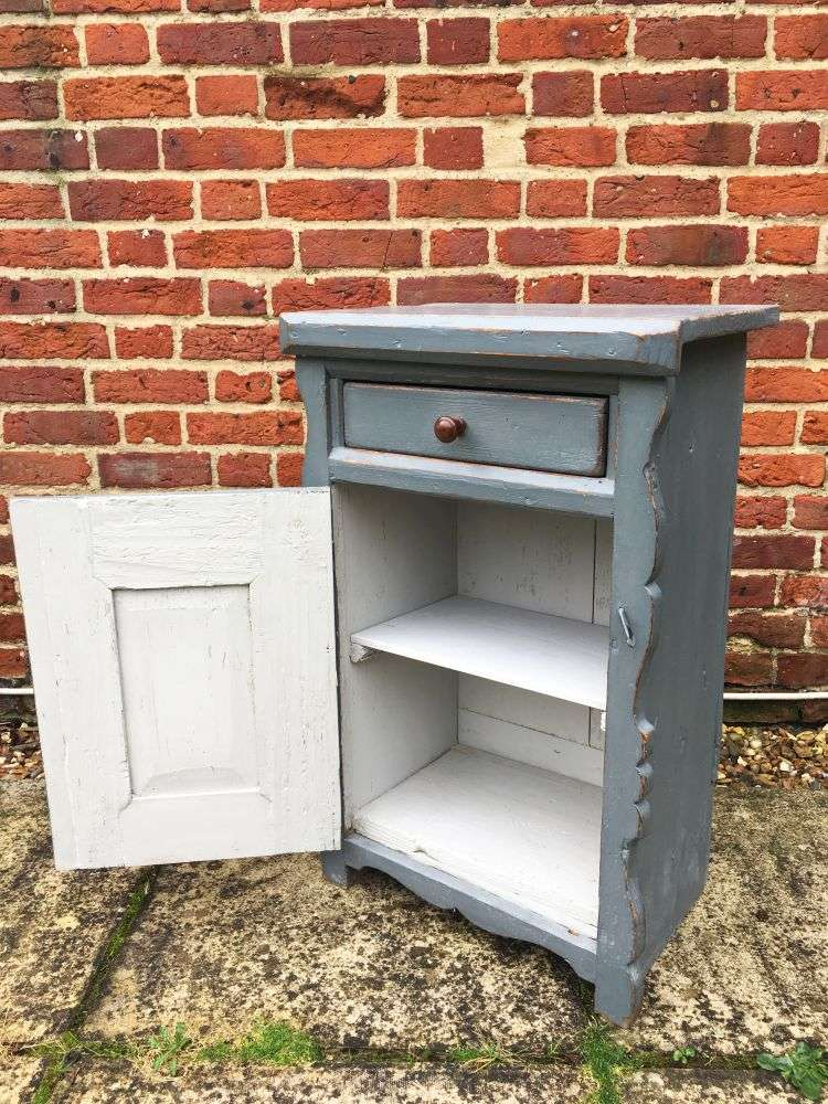 Hungarian Painted Pine Cupboard1