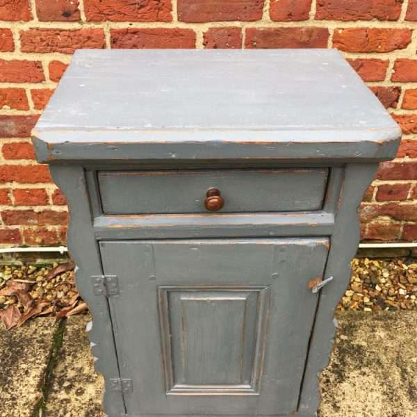 Hungarian Painted Pine Cupboard
