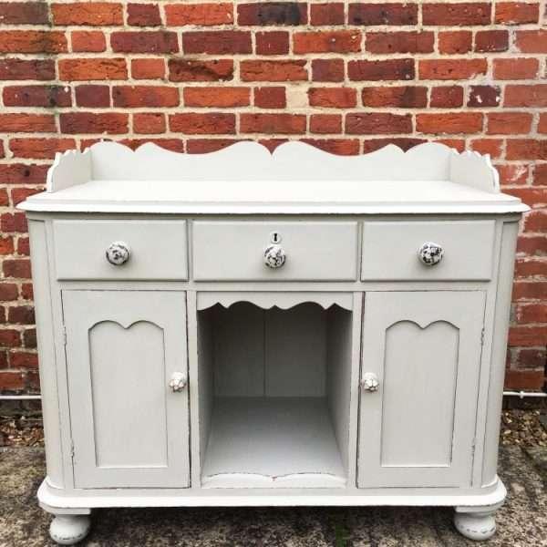 Mid Victorian Painted Mahogany Small Dresser Ref 1220