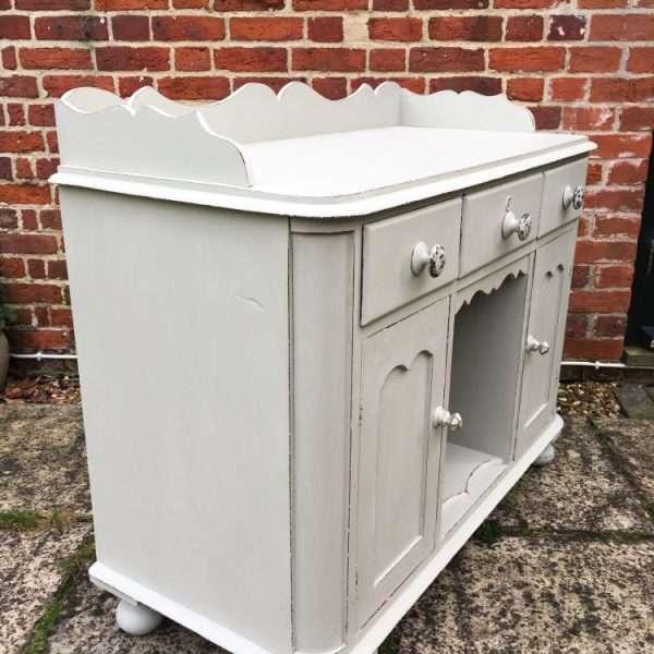 Mid Victorian Painted Mahogany Small Dresser2