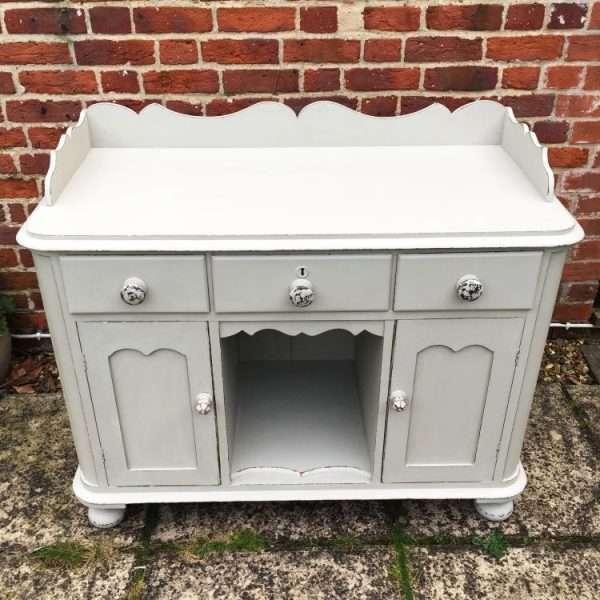 Mid Victorian Painted Mahogany Small Dresser