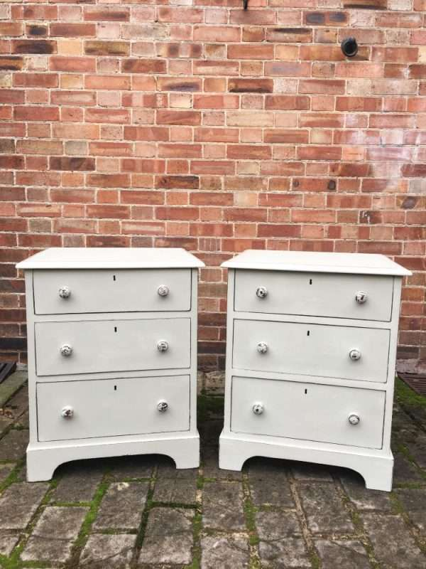 Mid Victorian Painted Mahogany Bedside Drawers SOLD- Ref:1221