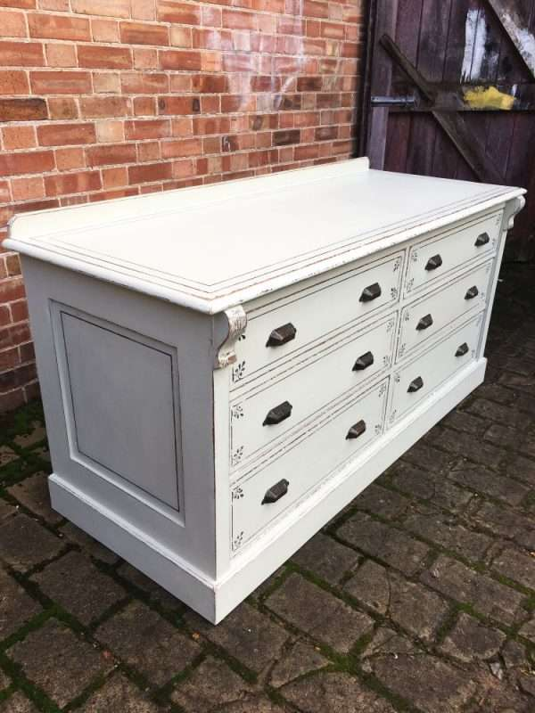 Mid Victorian Painted Mahogany 6 Drawer Base SOLD- Ref:1222