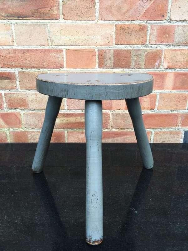Edwardian Painted Oak Milking Stool SOLD- Ref:1225