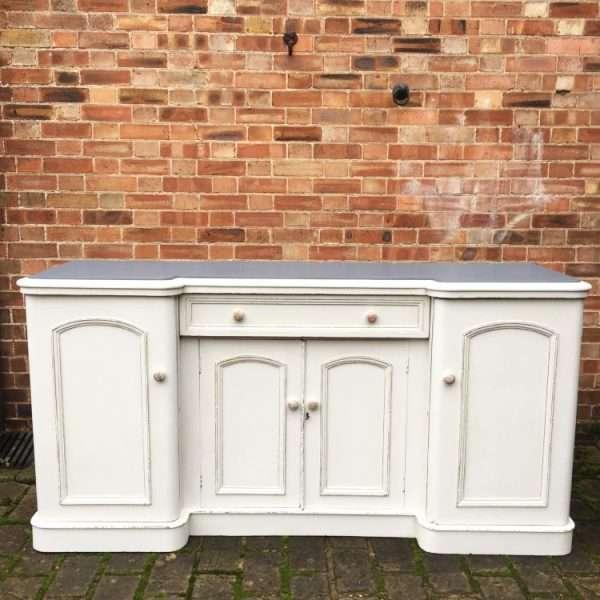 Mid Victorian Painted Mahogany Sideboard4