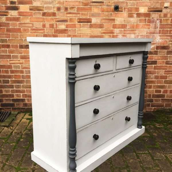 Early Victorian Painted Mahogany Gentleman's Chest4