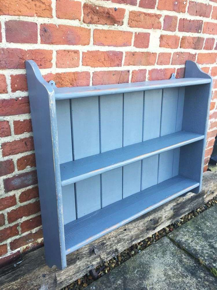 1920's Painted Pine Hanging Shelves1