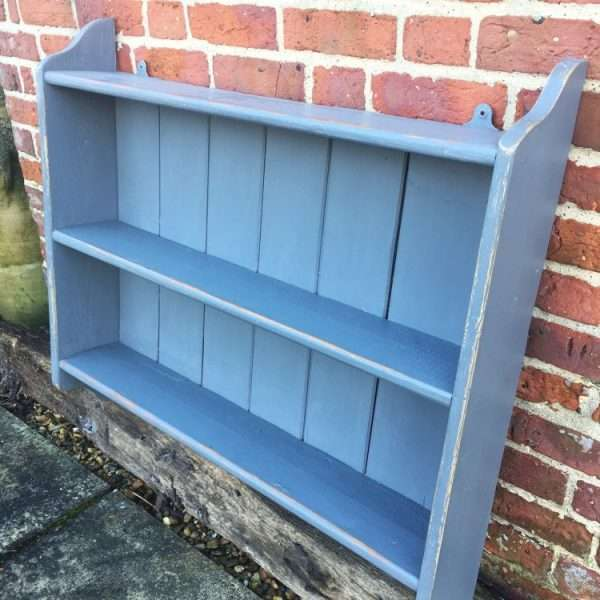1920's Painted Pine Hanging Shelves2