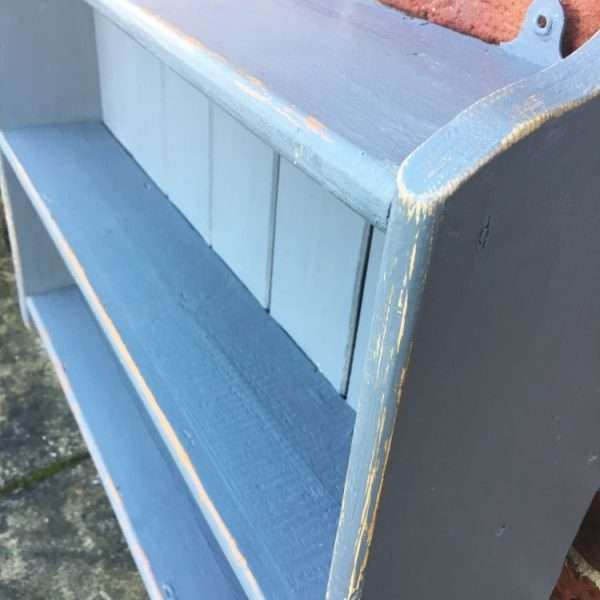 1920's Painted Pine Hanging Shelves3