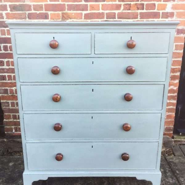 Late Georgian Painted Mahogany Chest Of Drawers