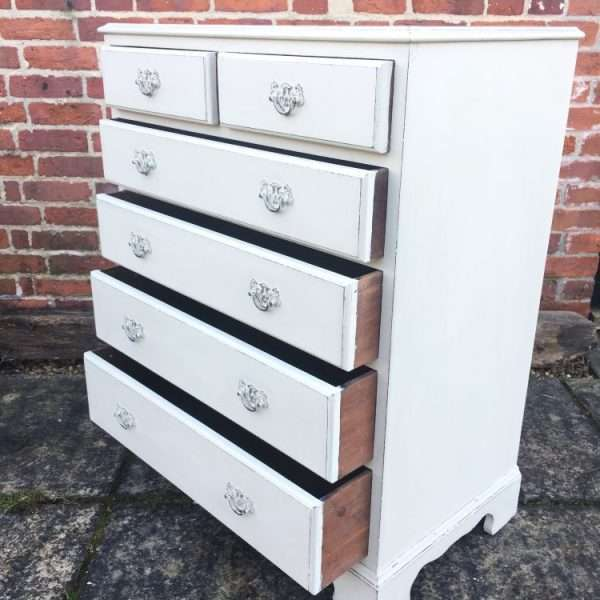 Edwardian Painted Mahogany Chest Of Drawers2