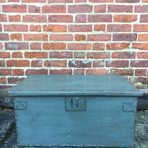 Early Victorian Painted Pine Box