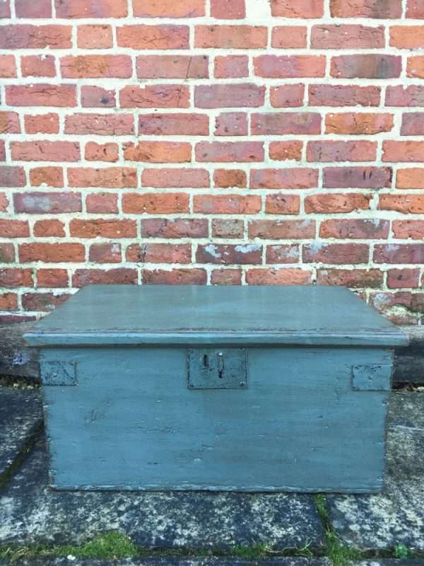 Early Victorian Painted Pine Box SOLD- Ref:1235