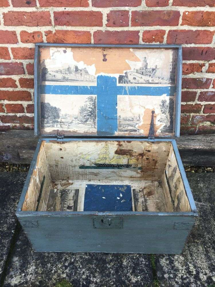 Early Victorian Painted Pine Box1