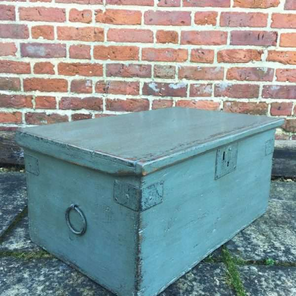 Early Victorian Painted Pine Box2