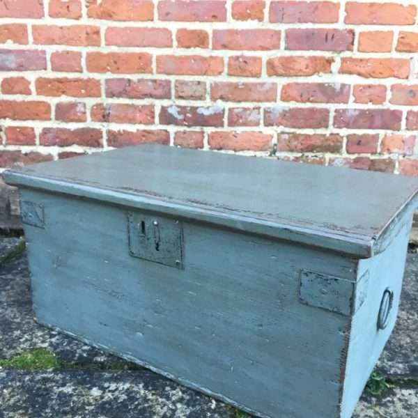 Early Victorian Painted Pine Box3