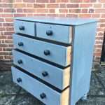 Mid Victorian Painted Pine Chest Of Drawers SOLD- Ref:1237