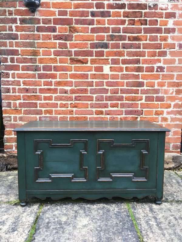 Edwardian Painted Oak Coffer Chest  SOLD- Ref:1240