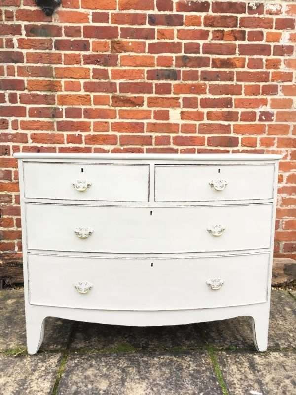 Regency Painted Mahogany Bow Front Chest SOLD- Ref:1241