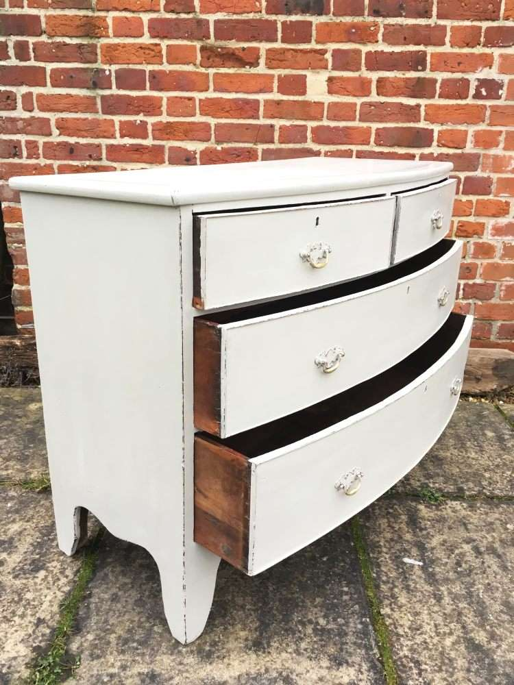 Regency Painted Mahogany Bow Front Chest2