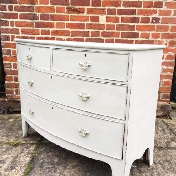 Regency Painted Mahogany Bow Front Chest3