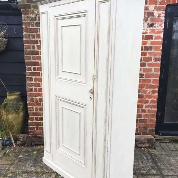 Mid Victorian Painted Pine Wardrobe1