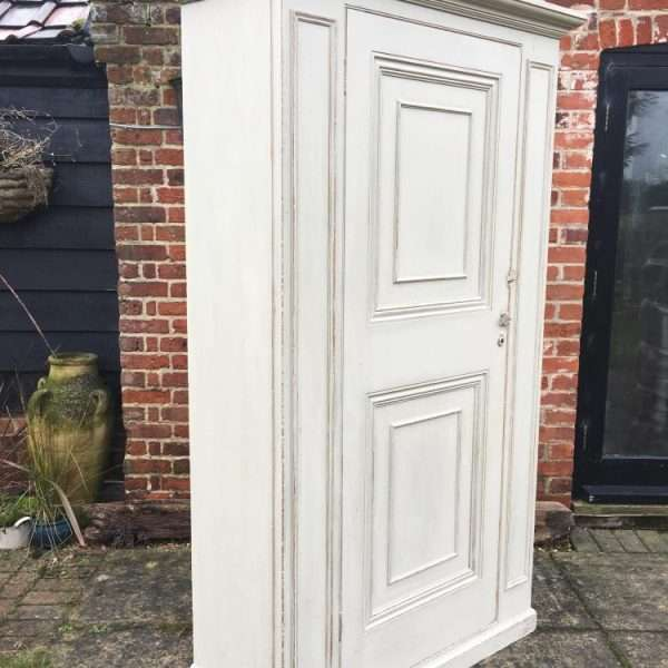 Mid Victorian Painted Pine Wardrobe