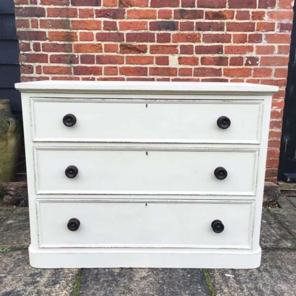 William IV Painted Satin Birch Chest3