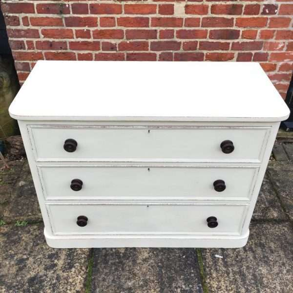 William IV Painted Satin Birch Chest2